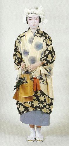 "Scan L1: Scan from book ""The History of Women's Costume in Japan.""  Scanned by Lumikettu of Flickr.  Exacting recreation of Japanese costume many centuries ago…"