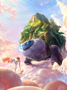 Fantasy animal world illustration