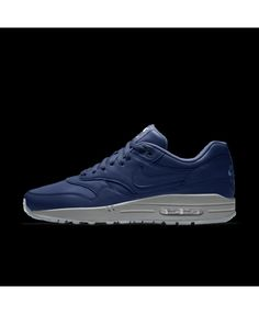 finest selection 813f0 56ffe Nike Air Max 1 Essential Id Blue Grey Mens Shoes Outlet