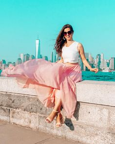 Timeless Favorite Chiffon Maxi Skirt in Pink - Retro, Indie and Unique Fashion Windy Skirts, Maxi Skirts, Dress Skirt, Dress Up, Chiffon Maxi, Chiffon Fabric, Beautiful Long Hair, Simply Beautiful, Unique Fashion