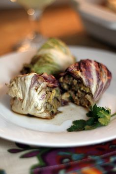 Asian Cabbage Rolls with Spicy Pork Adapted from Not Your Mother's Casserole sserves 4