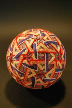 Temari Ball, made by 88-year-old woman, Japan, ca. 2009.
