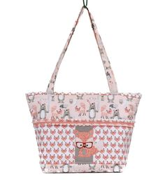 Fox Diaper Bag, Fox Baby Shower, Trendy Baby Gift, Fox With Glasses, Coral  Purse, Woodland Animals, Bear Bag, Bunny, Nature Baby, Baby Bag 0aa1c63b31e