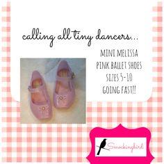 Mini Melissa pink ballet shoes
