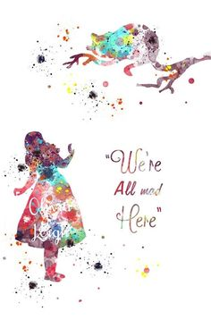 Alice in wonderland art print wall art watercolour canvas gift 3 sizes watercolor disney, watercolor Alice In Wonderland Background, Alice And Wonderland Quotes, Alice In Wonderland Party, Watercolor Disney, Watercolor Canvas, Wallpaper Gatos, Chesire Cat, Pinturas Disney, Wallpaper Iphone Disney