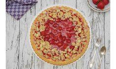 Jetzt bestellen: Erdbeerkuchen mit Vanillepudding Pepperoni, Pizza, Desserts, Food, Treats, Strawberries, Bakken, Tailgate Desserts, Deserts