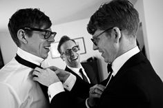 Patrick Carney getting his bow tie fixed by his brother before his wedding. The Black Keys, Got Him, Brother, Husband, Bows, Tie, Couple Photos, Couples, Music