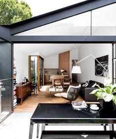 Black and white modern living