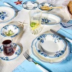 Karaca Nostalji 26 Parça Kahvaltı Takımı Karaca My Design, Tea Cups, Plates, Tableware, Kitchen, Licence Plates, Dishes, Dinnerware, Cooking