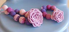 Necklace and bracelet crochet jewelry by ZayaLosya on Etsy, $23.00