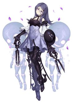 View an image titled 'Three, Breaker Job Art' in our SINoALICE art gallery featuring official character designs, concept art, and promo pictures. Fantasy Character Design, Character Design Inspiration, Character Concept, Character Art, Concept Art, Fantasy Characters, Anime Characters, Tekken Cosplay, Oc Manga