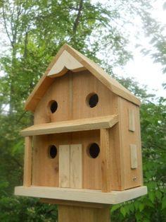 Birdhouse 4 nest bird house folk art primitive,Rustic Birdhouse, USA made