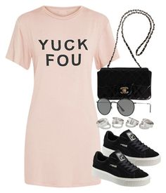 """Sin título #13079"" by vany-alvarado ❤ liked on Polyvore featuring Chanel, Puma and Ray-Ban"