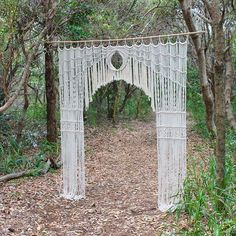 """Our """"Amour"""" Macramé Backdrop. Available for hire Australia Wide. See our website for details under arch hire in the product section, or email us about your special day"""