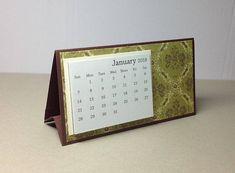 Small Desk Calendar 2018  Coworker Gift  Teacher Gift