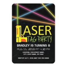 Free printable laser tag invitations template birthday pinterest kids laser tag birthday party invitation filmwisefo