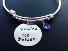 Grey's Anatomy Inspired You Are My Person, Bracelet, Boyfriend, Girlfriend, Gift Idea, Valentines Day Gift For her - Friendship Bracelet by Ashijewelers on Etsy
