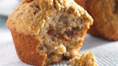 Nothing like a muffin's lovin - warm, fresh and straight out of the oven! We love our Banana, Date & Walnut Muffins recipe. Almond Muffins, Yogurt Muffins, Banana Bread Muffins, Carrot Muffins, Muffin Recipes, Cake Recipes, Bread Recipes, Diet Recipes, Dessert Recipes