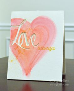Avery Elle Watercolor Valentine