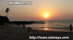 Tourist Attraction India: Vagator Beach Goa | sun set india Goa beach