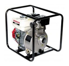 Honda - WB Water Pumps in Carry Frame by Honda   The WB Water Pumps in Carry Frame are self-priming pumps powered by 4 stroke Honda engines. Compact, portable, easy to start up and operate they can pump clean dirty water. Robust design, with good flows and pressure, they are suitable for irrigation, site use and general transfer.  WB and TE2 Engine pump in Carry Frame models also feature oil alerts for engine misuse protection.
