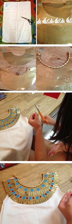 Lena Sekine: Making of Cleopatra costume - Kids Ideas Costume Carnaval, Costume Halloween, Diy Costumes, Adult Costumes, Fall Halloween, Mummy Costumes, Woman Costumes, Couple Costumes, Pirate Costumes