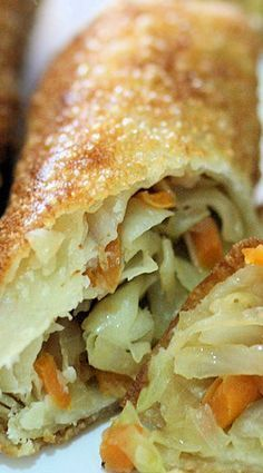 Cabbage and Carrot Spring Rolls. When I was little, I would helped my mom gently thawed off the egg roll sheets and wrapped the ingredients with it. The fillings mostly will be cabbage and carrot, or turnip and fresh prawn/dried shrimp or curried potatoes (my favourite).