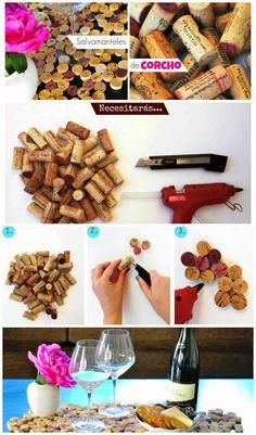 Idea para reutilizar los corchos