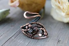 Hey, I found this really awesome Etsy listing at https://www.etsy.com/uk/listing/294710063/smoky-quartz-ring-copper-ring-wire-wrap