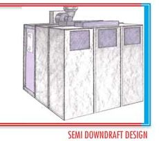 Semi Downdraft or Cross Draft  This proven ventilation system uses fresh air constantly moving through the enclosure to protect personnel from breathing harmful vapors. #air #make #up #units