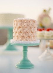 soft pink and milk glass green