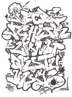 Graffiti Alphabet Letters Sets Graffiti Alphabet Letters Nenok