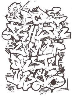 Graffiti Alphabet Letters Sets Graffiti Alphabet Letters Nenok