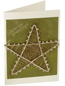 Wire and bead star card tutorial Next year christmas Craft Supplies Online, Arts And Crafts Supplies, Hobbies And Crafts, Christmas Time, Christmas Crafts, Christmas Ideas, French Beaded Flowers, Inspirational Wall Art, Scrapbook Embellishments