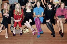 Amanda Seyfried, Emma Stone, Dianna Agron, Felicity Jones and Chloë Sevigny Front Row at Miu Miu