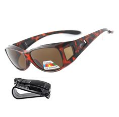 3b63cfb1591 Fit Over Sunglasses Polarized Sunglasses to Wear Over Glasses plus car  holder clip - C91864N0KR6 -