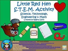 S.T.E.M. activities may seem daunting when teaching young children. This is a STEM activity that I created for my students to do whenever we read the folk tale The Little Red Hen.  I like to include literature, reading, and writing into my STEM activity so that I can incorporate it into my reading block if needed.