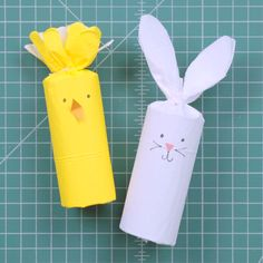 How to Create Easter Bunny Basket Stuffers - Easter Ideas - How to Turn Toilet Paper Tubes into the Cutest Easter Basket Stuffers Easter Gift For Adults, Easter Crafts For Kids, Paper Easter Crafts, Toilet Paper Roll Crafts, Easter Stuff, Easter 2020, Easter Projects, Bunny Crafts, Easter Party