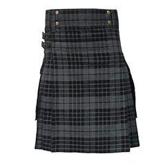 Tartanista Mens Tartan Utility Kilt In Grey & Black Watch Scottish Clothing, Scottish Man, Utility Kilt, Kilt Skirt, Highland Games, Tartan Kilt, Tartan Fabric, Best Sellers, Fashion Brands