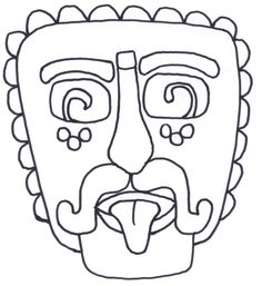 mayn mask coloring page mayan masks pinterest masking and free printable