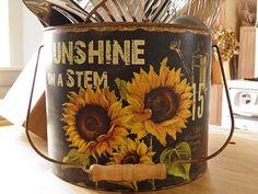 sunflower bucket                ****
