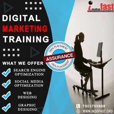We provide the Best Digital Marketing Course, where the knowledge of Brand Promotion and Practicality of Digital Marketing is taught to people to make them the Professional Digital Marketers in the Corporate World.After joining our Digital Marketing course, As we are the best Digital Marketing training institute in Patna, You can get multiple Job Opportunities. For info> call us on -7903760898 or visit - www.indofast.org Affiliate Marketing, Social Media Marketing, Digital Marketing, Brand Promotion, Marketing Training, Search Engine Optimization, Training Programs, Digital Media, Web Design
