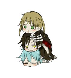 Soul Eater Chibi Maka, Death the Kid, and Black Star