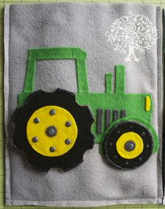 Tractor quiet book page