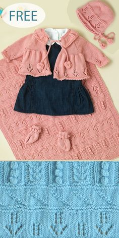"Pretty Yoked Baby Cardigan~ Butterfly Eyelet Panels 17-19/"" DK Knitting Pattern"