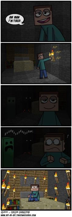 Minecraft... So Herobrine is just a scared Steve... That is a different story than usual.