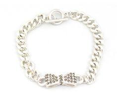 Bow Bracelet in Silver