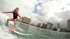 Sophie Falzone surfing in Hawaii with X-Trak surf traction pads