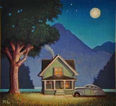 Lake Cottage - Original Fine Art for Sale - © Robert LaDuke