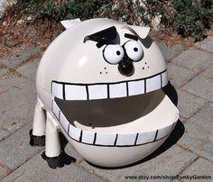 Dog Propane Tank Sculpture by FunkyGarden on Etsy